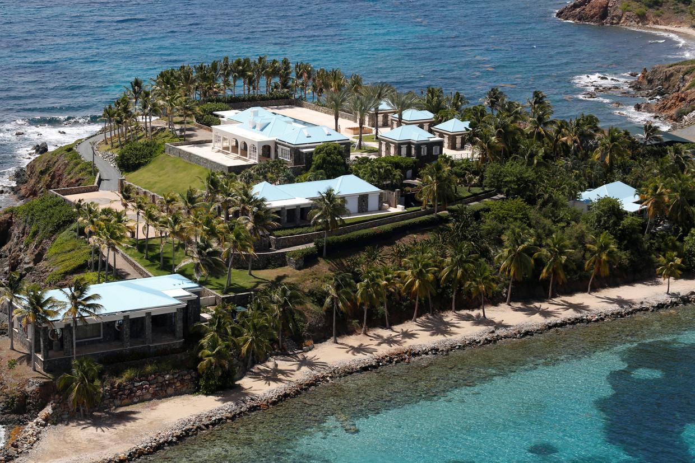 Het buitenhuis van Jeffrey Epstein op de Maagdeneilanden