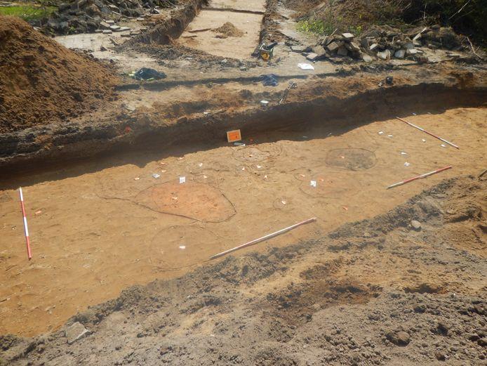 Sporen van de ambachtelijke zone uit de ijzertijd.