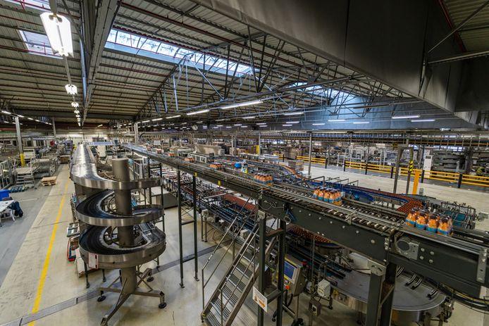 Een zicht op de fabriek FrieslandCampina in Aalter.