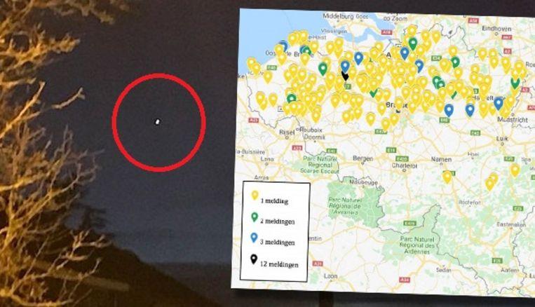 Een waarneming van 20 december 2019 in Houwaart (Vlaamse-Brabant). Het bleek om de planeet Venus te gaan. Beeld UFO-meldpunt