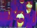 In Rome werd vandaag de lichaamstemperatuur van Chinese passagiers opgenomen met een speciale scanner.