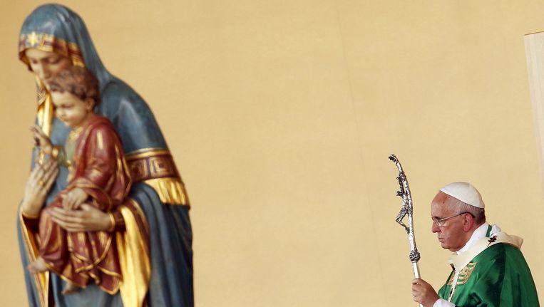 Paus Franciscus, vandaag tijdens zijn pastoraal bezoek aan Turijn.