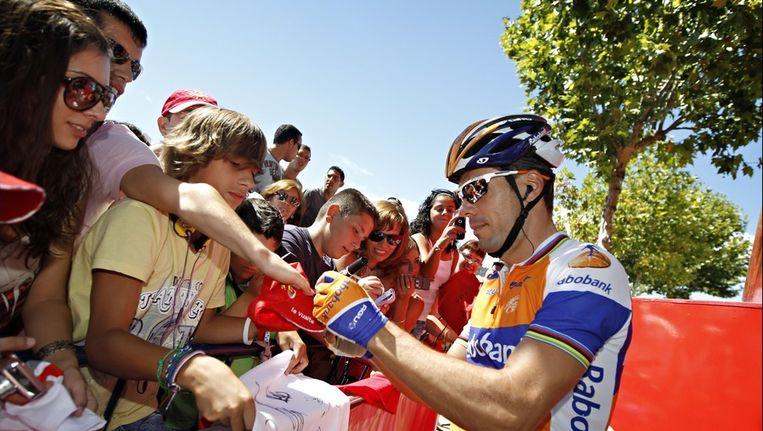 Oscar Freire is er net als Tyler Farrar niet meer bij in de Vuelta. Beeld PHOTO_NEWS
