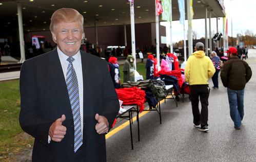 Foto van Amerikanen trekken naar de stembus: dit was de campagne van Trump