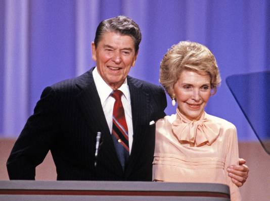 President Ronald Reagan and first lady Nancy Reagan in 1988.