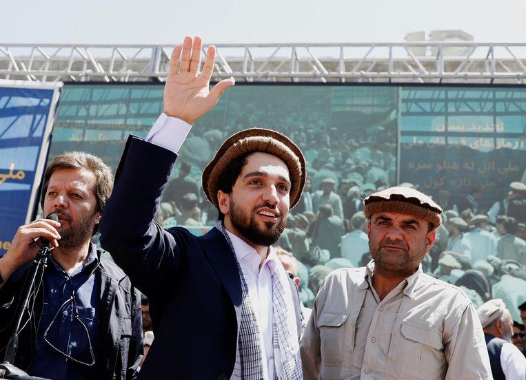 Ahmad Massoud, hier in september 2019, wil de strijd tegen de Taliban hervatten. Beeld REUTERS