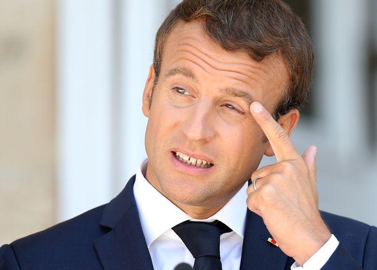 De Franse president Emmanuel Macron. Beeld REUTERS