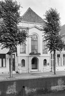 Voormalige joodse synagoge aan de Haven 13 in Schoonhoven in 1964.