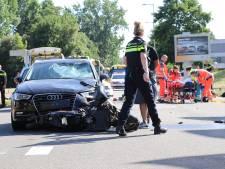 Traumahelikopter ingezet na ongeluk met scooter