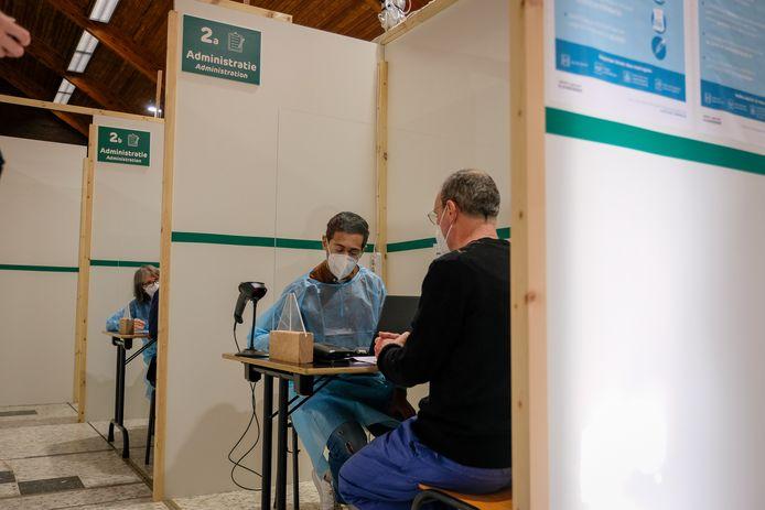 opening  vaccinatiecentrum in Wemmel