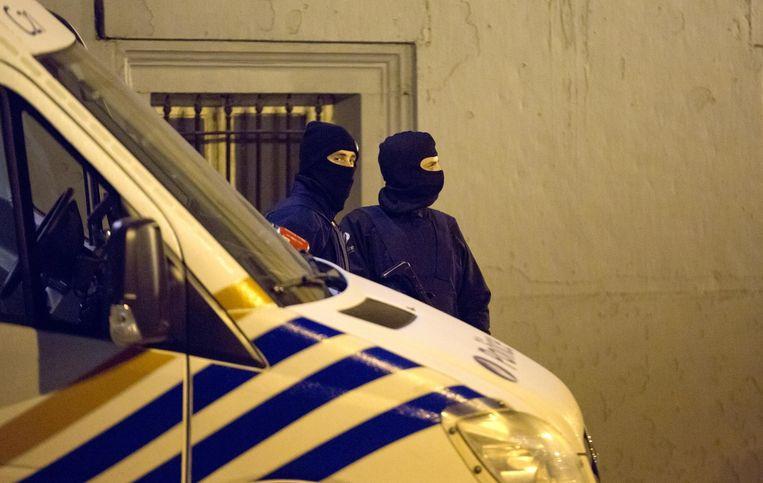 Belgische agenten in Brussel Beeld ap