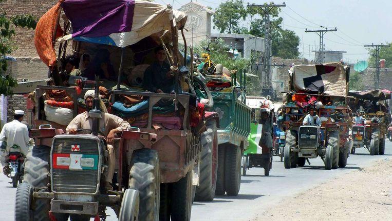 Pakistaanse burgers in de regio Noord-Waziristan. Beeld afp