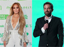 Jennifer Lopez en Ben Affleck afgelopen zondag op het VAX-concert