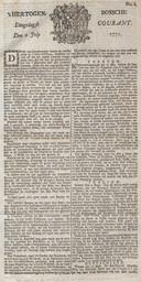 De allereerste krant in Brabant verscheen op 2 juli 1771