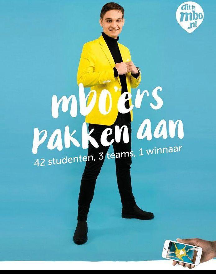 Damian van Toer uit Dordrecht is een van de 42 mbo-ambassadeur.