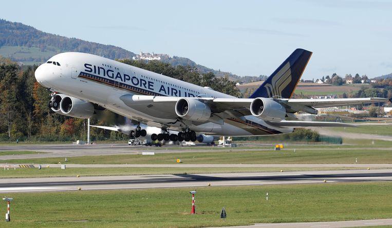 Een vliegtuig van Singapore Airlines. Beeld REUTERS