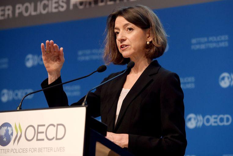 Laurence Boone, hoofdeconoom van de OESO: Dit is een 'whatever it takes'-moment'  Beeld AFP