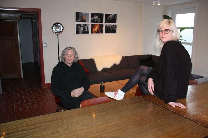 Patrick Smagghe en Eline Adam kijken er al naar uit om artiesten in deze leefruimte te ontvangen.