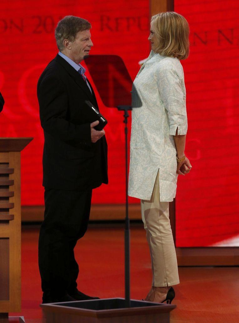 Stevens met Ann Romney. Beeld REUTERS