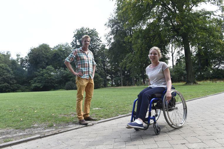 Joyce Lefèvre en haar broer Ben begonnen samen aan de zware tocht, maar Ben is gestopt na 60 kilometer.