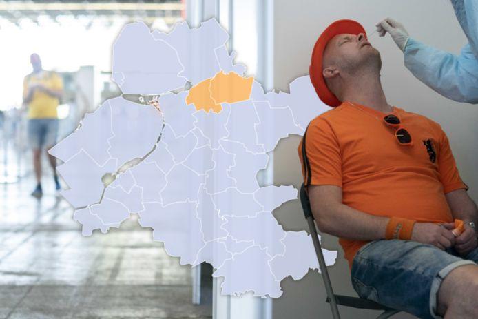 Staphorst en Zwartewaterland kleuren licht-oranje op de coronakaart.