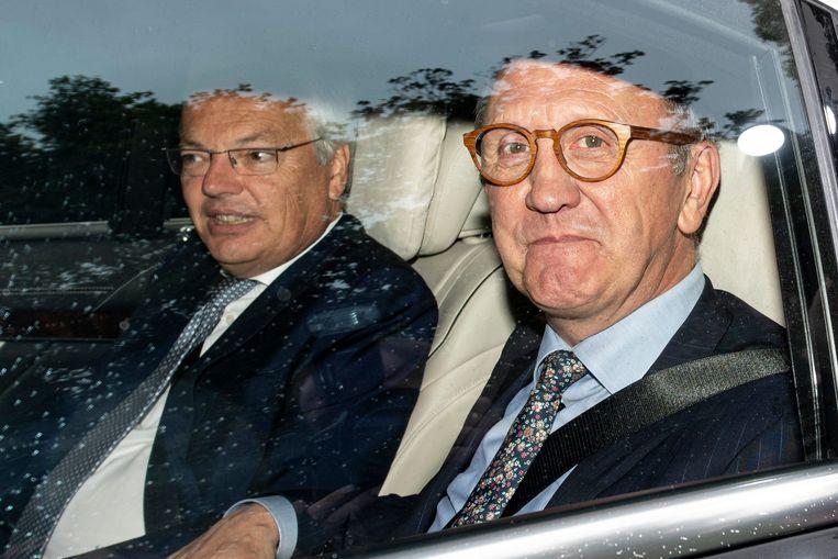 De informateurs Johan Vande Lanotte en Didier Reynders blijven vooralsnog proberen een doorbraak te forceren. Beeld Photo News