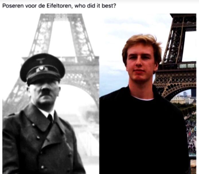 Louis De Stoop poseerde zoals Hitler in Parijs.