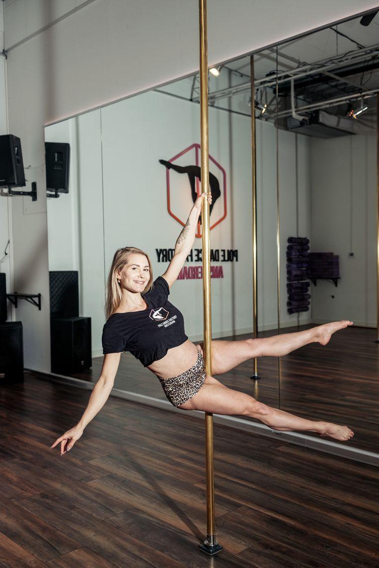 Tatjana van Onna, eigenaar van Pole Dance Factory. Beeld Jakob van Vliet