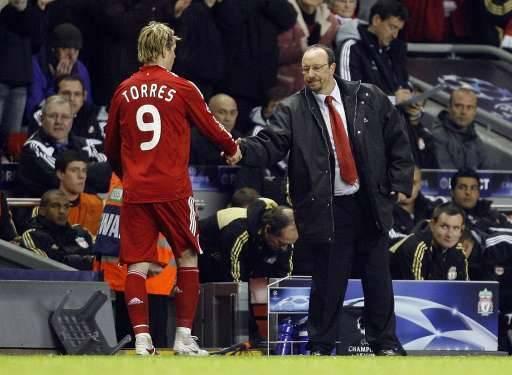 Torres, qui a inscrit le premier but pour Liverpool, a eu droit à une ovation en fin de rencontre.