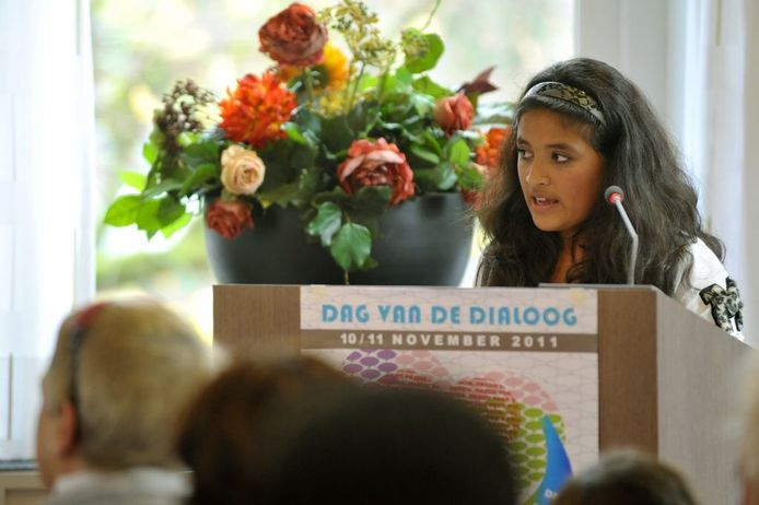 Voorleeskampioene Carolina Dankers.Foto Tim Rijnhout/PVE