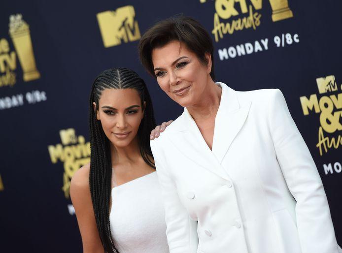 Kris Jenner met dochter Kim.