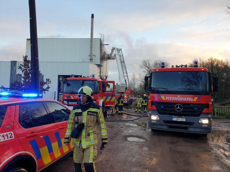 De brandweer aan het werk bij Nordex.