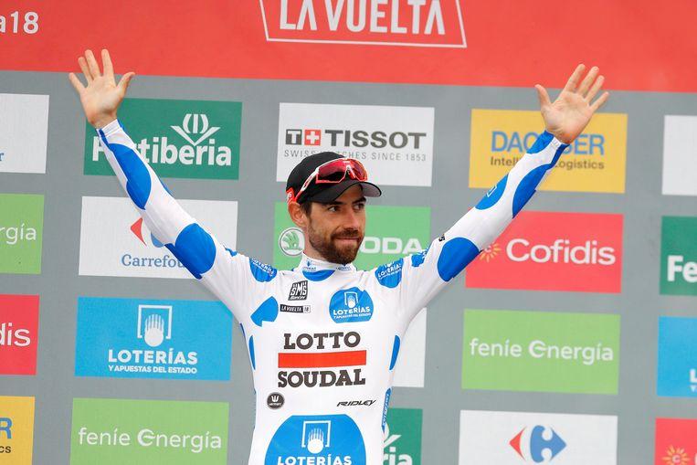 Thomas De Gendt won de bergtrui in de Vuelta.