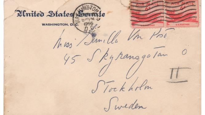 Liefdesbrieven van JFK aan Zweedse minnares te koop