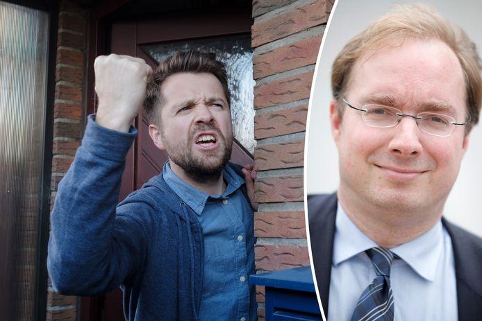 Professor Vincent Sagaert (rechts) sleutelde mee aan de wet die burenruzies moet beslechten.
