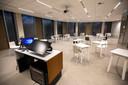 Interieur nieuwe Montesorigebouw van Radboud Universiteit Nijmegen.