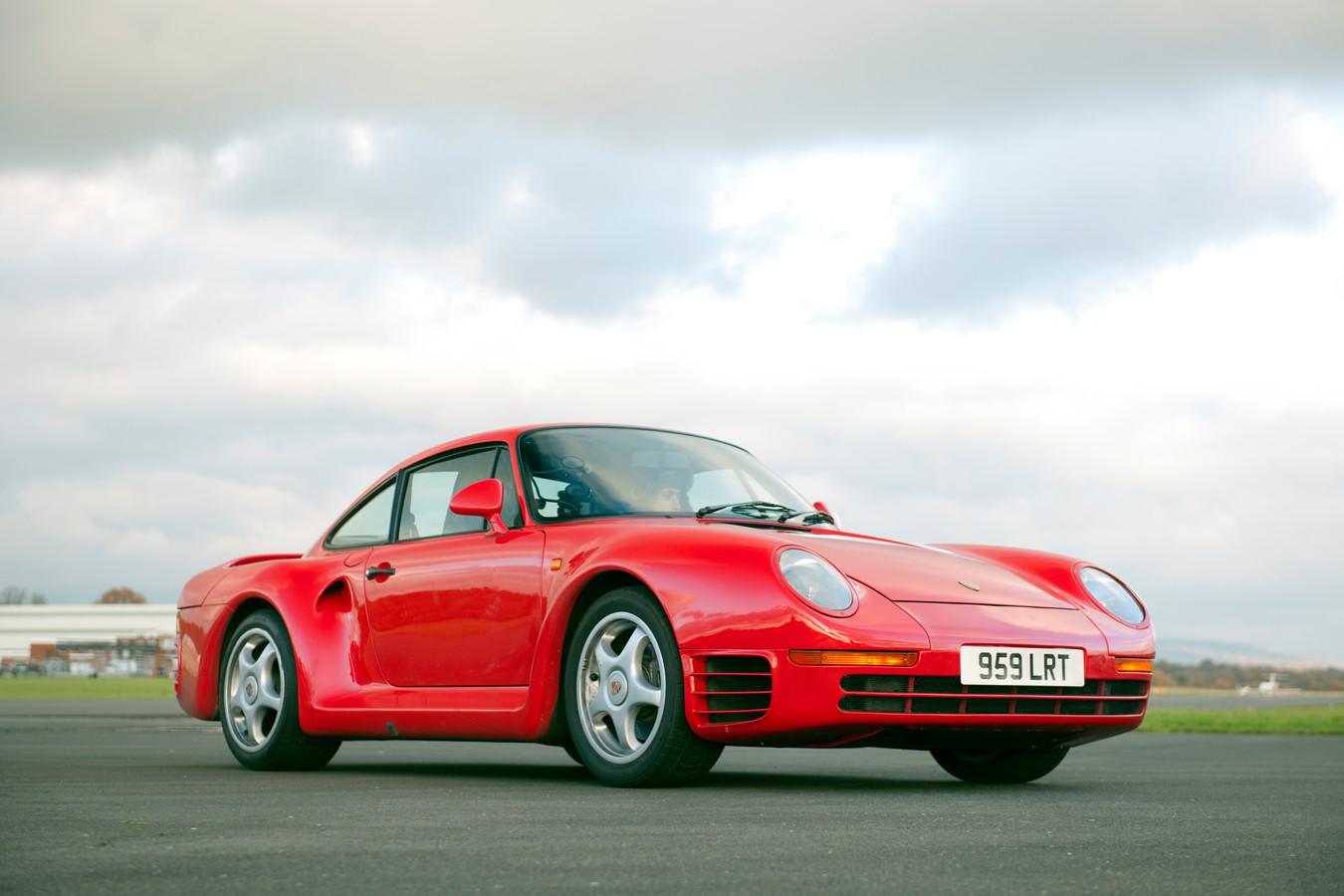 Een illustratie van een Porsche 959.
