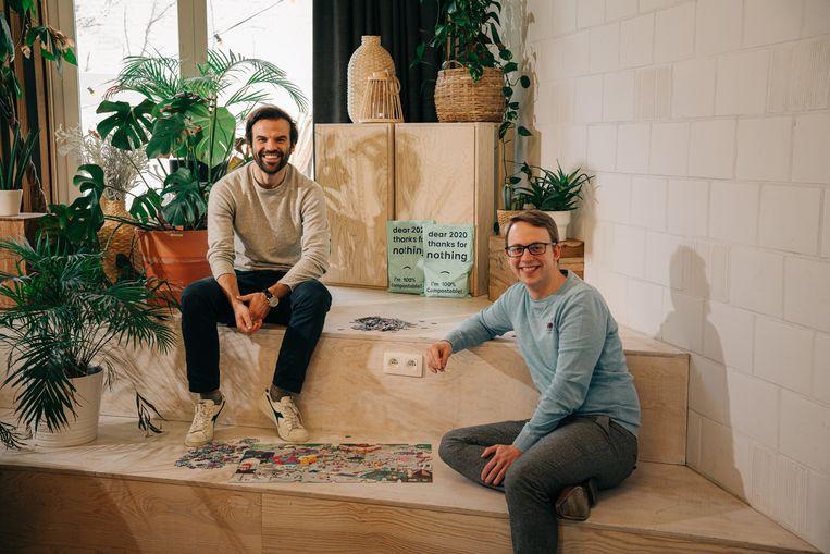 Dimitri Devroe (links): 'Binnen een maand was alles uitverkocht.' Beeld Wouter Van Vooren