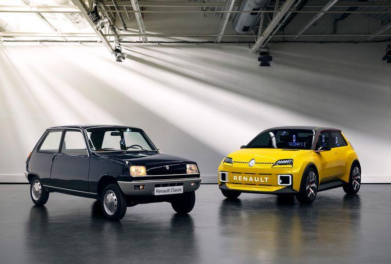 De oude en de nieuw Renault 5 Beeld Renault