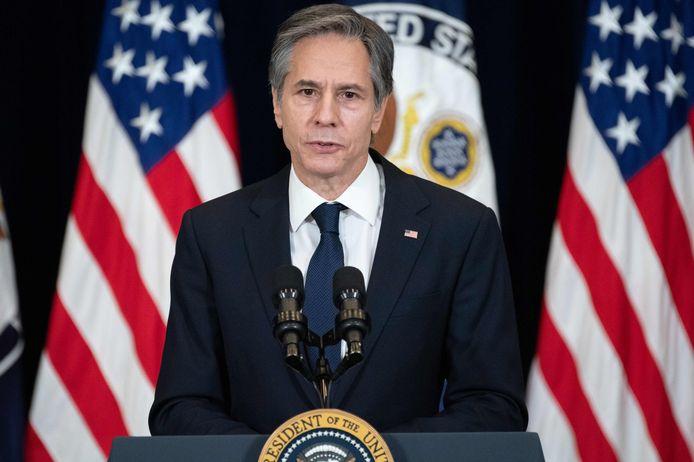 De Amerikaanse minister van Buitenlandse Zaken Anthony Blinken.