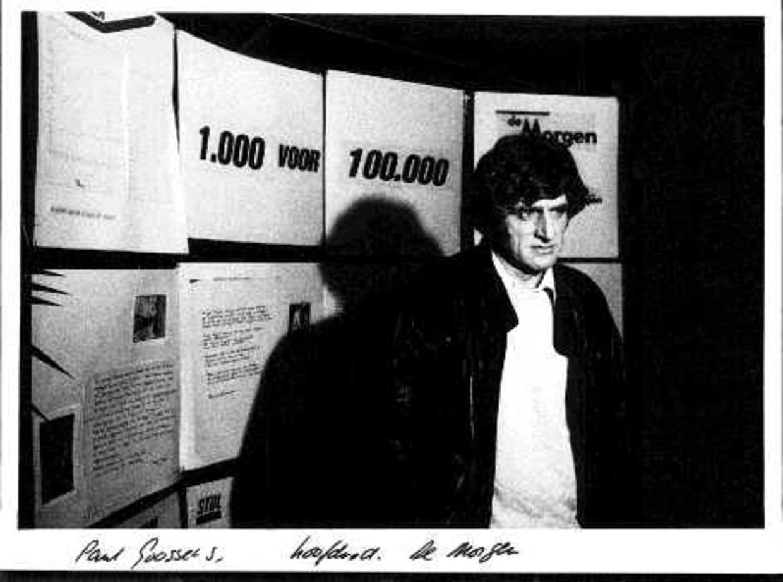 Toenmalig hoofdredacteur Paul Goossens op de redactie van 'De Morgen'. Beeld Hollandse Hoogte / Frans Schellekens