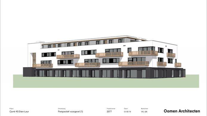 De verlaten Rabobank wordt gesloopt en maakt plaats voor vijftien appartementen en drie penthouses vanaf de eerste verdieping. Op de begane grond komen ruimtes te huur voor zakelijke dienstverlening of (para)medische functies.