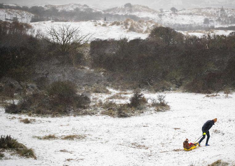 In het uiterste noorden van het land is er zelfs kans is op een sneeuwstorm.   Beeld ANP