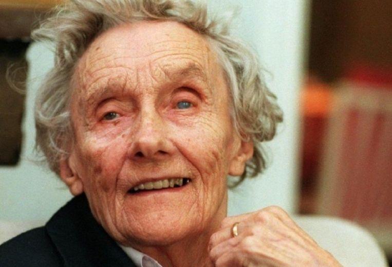 Schrijfster Astrid Lindgren in 1997 Beeld epa