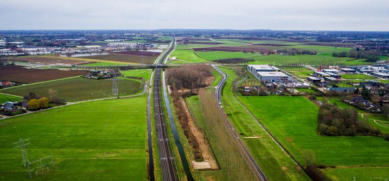 Het einde van de A15 nabij Bemmel.  Beeld