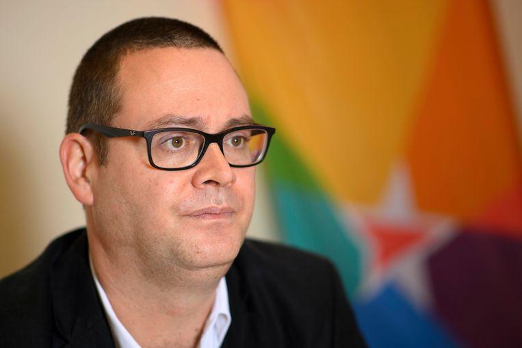 Raoul Hedebouw (PVDA)  Beeld Photo News