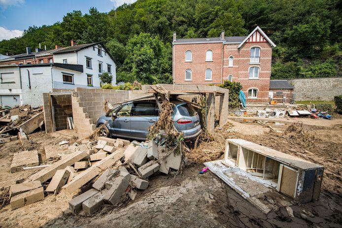 Overstromingen in Trooz (ter illustratie).