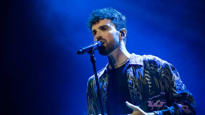 Duncan Laurence via videoverbinding in finale songfestival