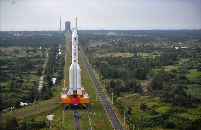 Een Long March-5 raket, de grootste uit het Chinese ruimtevaartprogramma.