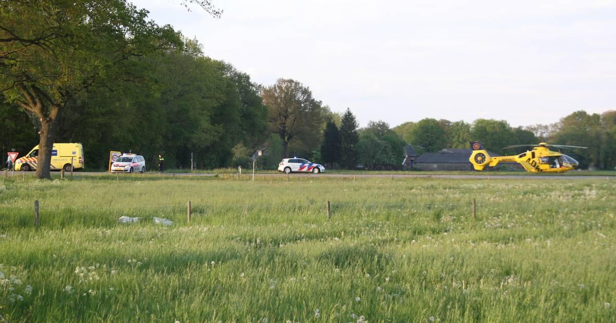 Ernstig ongeval bij Diepenheim: traumahelikopter ter plaatse.